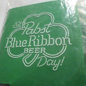Pabst Blue Ribbon Beer Can Koozie LOT of 3